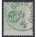 SWEDEN - 1877 30öre light yellowish green Postage Due (Lösen), perf. 13, used – Facit # L18d