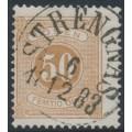 SWEDEN - 1877 50öre dull yellowish orange-brown Postage Due (Lösen), perf. 13, used – Facit # L19d