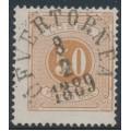 SWEDEN - 1877 50öre yellowish orange-brown Postage Due (Lösen), perf. 13, used – Facit # L19d