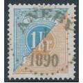 SWEDEN - 1877 1Kr ultramarine-blue/greyish brown Postage Due (Lösen), perf. 13, used – Facit # L20d