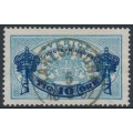 SWEDEN - 1889 10öre dark blue on 12öre blue Official (Tjänstemärke), perf. 13, used – Facit # TJ25a