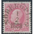 SWEDEN - 1886 10öre pale violet-rose Oscar II with posthorn, used – Facit # 45b