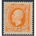 SWEDEN - 1896 25öre reddish orange Oscar II, MNH – Facit # 57a