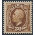 SWEDEN - 1891 30öre yellowish brown Oscar II, MNH – Facit # 58a