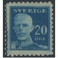 SWEDEN - 1920 20öre blue King Gustav V, perf. 9¾ four sides, KPV watermark, MH – Facit # 151Cbz