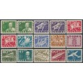 SWEDEN - 1936 300th Anniversary of the Post Office set of 15, MH – Facit # 246A-257A + 246C+247C+248C