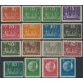 SWEDEN - 1924 5öre – 5Kr. World Postal Congress set of 16, MH – Facit # 196-210 + 197cx