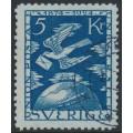 SWEDEN - 1924 5Kr. blue UPU Anniversary, used – Facit # 225