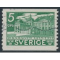 SWEDEN - 1935 5öre green Riksdagen with the variety 'flagpole' (flaggstång), used – Facit # 240A PI