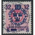 SWEDEN - 1918 50öre carmine Ring Type Landstorm III overprint, used – Facit # 135