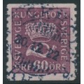 SWEDEN - 1920 60öre red-lilac Crown & Posthorn with lines watermark, used – Facit # 162cx
