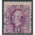 SWEDEN - 1903 8öre carminish violet Oscar II, used – Facit # 53a