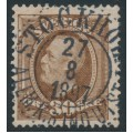 SWEDEN - 1891 30öre brown Oscar II, used – Facit # 58b