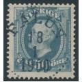 SWEDEN - 1891 50öre blue-grey Oscar II, used – Facit # 59c