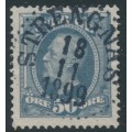 SWEDEN - 1891 50öre lilac-grey Oscar II, used – Facit # 59b