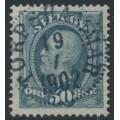 SWEDEN - 1891 50öre bluish grey Oscar II, used – Facit # 59a