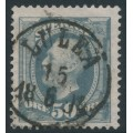SWEDEN - 1891 50öre bluish grey Oscar II, portions of two crown watermarks, used – Facit # 59avm²