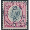 SWEDEN - 1900 1Kr carmine/grey Oscar II, used – Facit # 60b