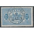 SWEDEN - 1874 12öre blue Official (Tjänstemärke), perf. 14, used – Facit # TJ5c