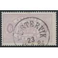 SWEDEN - 1881 6öre bluish lilac Official (Tjänstemärke), perf. 13, used – Facit # TJ15b