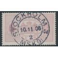 SWEDEN - 1881 6öre red-lilac Large Official (Tjänstemärke), perf. 13, used – Facit # TJ15c²