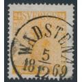 SWEDEN - 1858 24öre orange Coat of Arms, used – Facit # 10d²