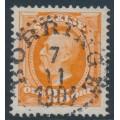 SWEDEN - 1896 25öre reddish orange Oscar II, used – Facit # 57a²