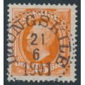 SWEDEN - 1896 25öre red-orange Oscar II, used – Facit # 57a¹
