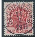 SWEDEN - 1910 10öre carmine-red Official (Tjänstemärke), crown watermark, used – Facit # TJ32