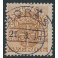 SWEDEN - 1910 15öre brown Official (Tjänstemärke), crown watermark, used – Facit # TJ33