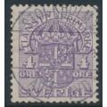 SWEDEN - 1912 4öre lilac Official (Tjänstemarke), inverted lines watermark, used – Facit # TJ43cx