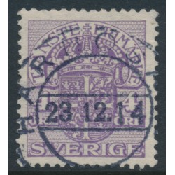 SWEDEN - 1912 4öre lilac Official (Tjänstemarke), inverted lines+KPV watermark, used – Facit # TJ43cxz