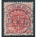 SWEDEN - 1911 10öre red Official (Tjänstemarke), lines watermark, used – Facit # TJ47