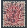 SWEDEN - 1918 12öre carmine Official (Tjänstemärke), lines watermark, used – Facit # TJ48