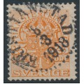 SWEDEN - 1912 25öre orange Official (Tjänstemarke), inverted lines watermark, used – Facit # TJ51cx