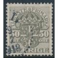 SWEDEN - 1915 50öre grey Official (Tjänstemarke), without watermark, used – Facit # TJ54v