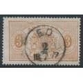 SWEDEN - 1874 3öre orange-brown Official (Tjänstemärke), perf. 14, used – Facit # TJ1b