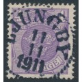 SWEDEN - 1910 4öre bluish lilac Coat of Arms with crown watermark, 11.11.11 cancel – Facit # 70b