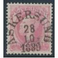 SWEDEN - 1886 10öre pale violet-rose Oscar II with posthorn, used – Facit # 45b