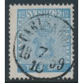 SWEDEN - 1858 12öre light blue Coat of Arms, used – Facit # 9d1