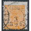 SWEDEN - 1858 24öre red-orange Coat of Arms, used – Facit # 10f1
