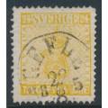 SWEDEN - 1858 24öre light orange-yellow Coat of Arms, used – Facit # 10c