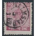 SWEDEN - 1858 50öre violet-carmine Coat of Arms, used – Facit # 12b