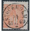 SWEDEN - 1866 20öre orange-red Lying Lion, used – Facit # 16c