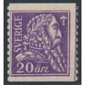 SWEDEN - 1921 20öre ultramarine-violet Gustav Vasa, KPV watermark, MH – Facit # 153Abz