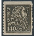 SWEDEN - 1921 140öre olivish grey-black Gustav Vasa, KPV watermark, MH – Facit # 155Abz