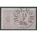 SWEDEN - 1881 6öre red-lilac Official (Tjänstemärke), perf. 13, used – Facit # TJ15c²