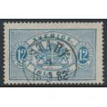 SWEDEN - 1881 12öre blue Official (Tjänstemärke), perf. 13, 'spot under left 12', used – Facit # TJ17b