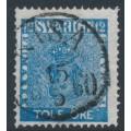 SWEDEN - 1858 12öre dark blue Coat of Arms, used – Facit # 9b1