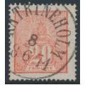 SWEDEN - 1866 20öre red Lying Lion, used – Facit # 16e